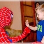 аниматор человек паук на день рождение, аниматор человек паук на детский день рождение
