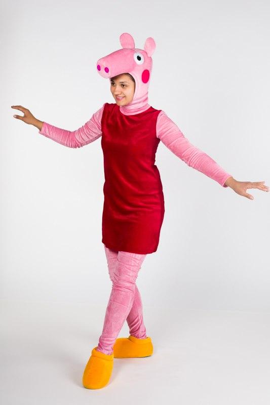 Карнавальный костюм свинка пеппа своими руками 99